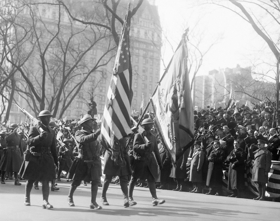 369th Hell Fighters Victory Parade in New York, Color Guard